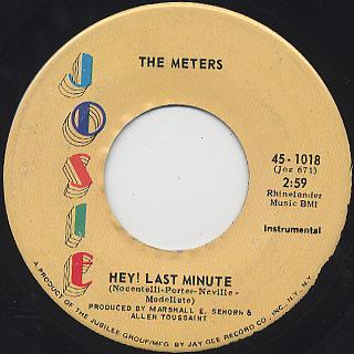 Meters / Chicken Strut c/w Hey! Last Minute back