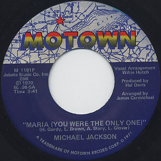 Michael Jackson / Got To Be There c/w Maria (You Were The Only One) back