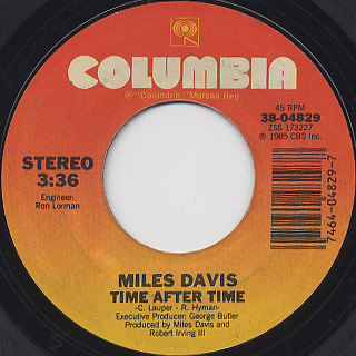 Miles Davis / Time After Time