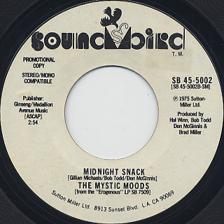 Mystic Moods / Honey Trippin' c/w Midnight Snack back
