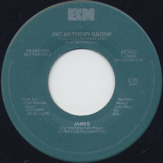 Pat Metheny Group / James back