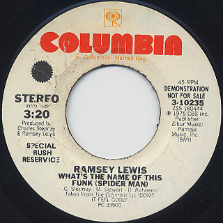 Ramsey Lewis / What's The Name Of This Funk (Spider Man)