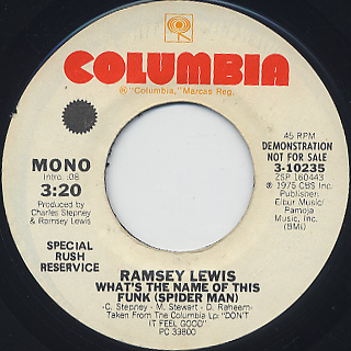 Ramsey Lewis / What's The Name Of This Funk (Spider Man) back