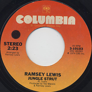 Ramsey Lewis and Earth, Wind and Fire / Sun Goddess c/w Jungle Strut back