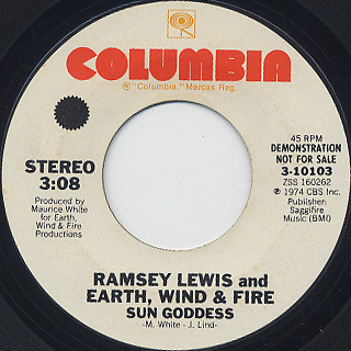 Ramsey Lewis and Earth, Wind and Fire / Sun Goddess back