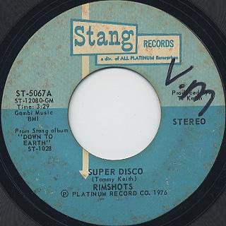 Rimshots / Super Disco c/w Groove Bus