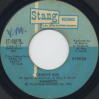 Rimshots / Super Disco c/w Groove Bus back