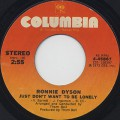 Ronnie Dyson / Just Don't Want To Be Lonely c/w Point Of No Return-1