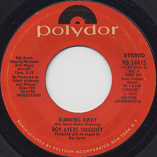 Roy Ayers / Running Away c/w Cincinnati Growl