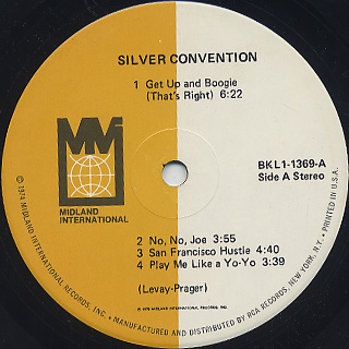 Silver Convention / S.T. label