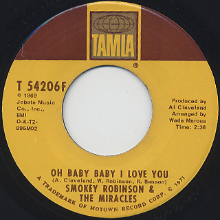 Smokey Robinson & The Miracles / Crazy About The La La La back