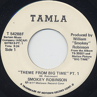 Smokey Robinson / Theme From Big Time Pt.1 c/w Pt.2