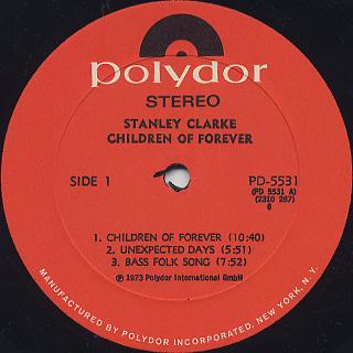 Stan Clarke / Children Of Forever label