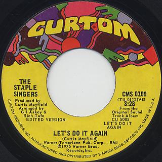 Staple Singers / Let's Do It Again c/w After Sex