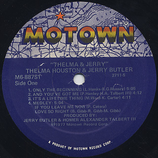 Thelma Houston & Jerry Butler / Thelma & Jerry label