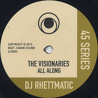 Visionaries / All Along c/w Crown Royale / Stratasphere label