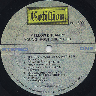 Young-Holt Unlimited / Mellow Dreamin' label