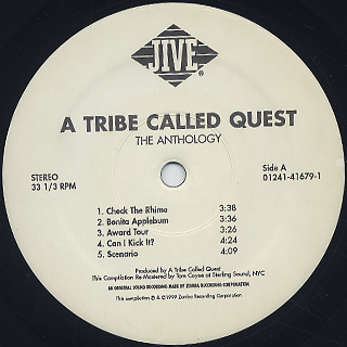 A Tribe Called Quest / The Anthology label