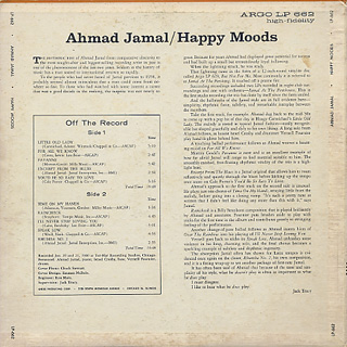Ahmad Jamal / Happy Moods back