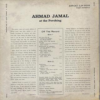 Ahmad Jamal Trio / Ahmad Jamal At The Pershing back