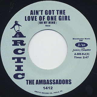 Ambassadors / Ain't Got The Love Of One Girl (On My Mind) back