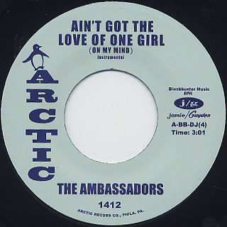 Ambassadors / Ain't Got The Love Of One Girl (On My Mind) label