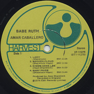 Babe Ruth / Amar Caballero label