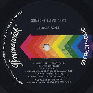 Barbara Acklin / Someone Else's Arms label