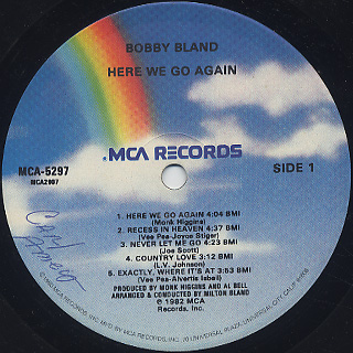 Bobby Bland / Here We Go Again label