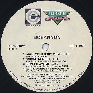 Bohannon / Make Your Body Move label