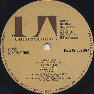 Brass Construction / S.T. label