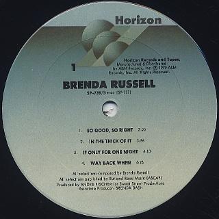 Brenda Russell / S.T. label