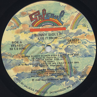 Bunny Sigler / Let It Snow label