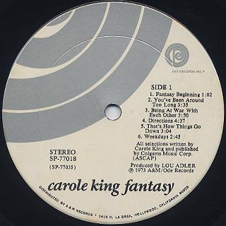 Carole King / Fantasy label