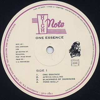 Cedric Im Brooks / One Essence label