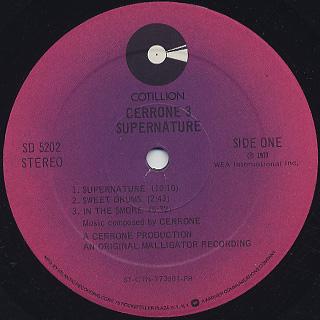 Cerrone / Cerrone 3 - Supernature label