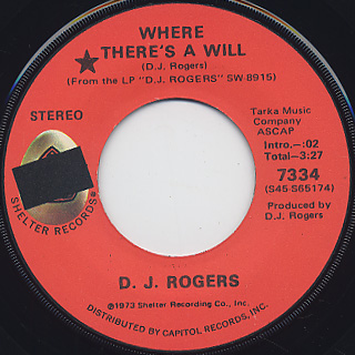 D.J. Rogers / Where There's A Will
