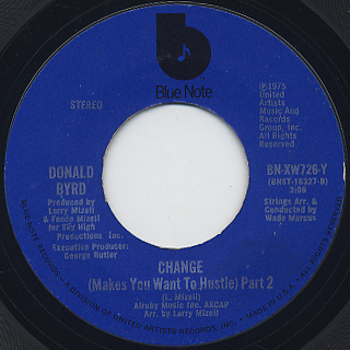 Donald Byrd / Change (Makes You Want To Hustle) back