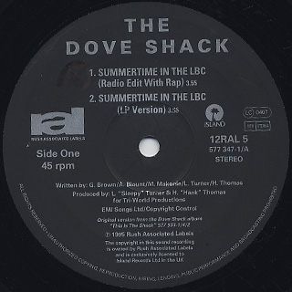 Dove Shack / Summertime In The LBC / Bomb Drop label