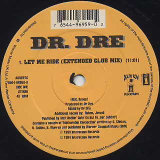 Dr. Dre / Nuthin' But A 'G' Thang label
