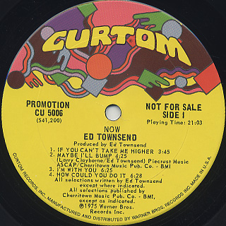 Ed Townsend / Now label