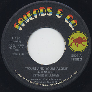 Esther Williams / Yours And Yours Alone