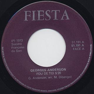 Georges Anderson / Fou De Toi c/w Jungle Love back