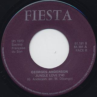 Georges Anderson / Fou De Toi c/w Jungle Love label