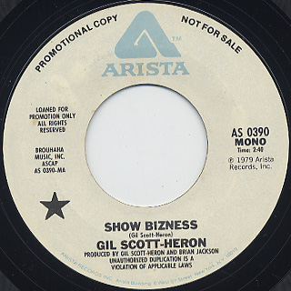 Gil Scott-Heron / Show Bizness back