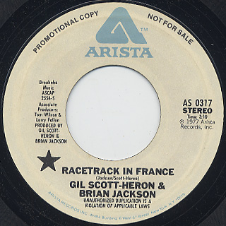 Gil Scott-Heron and Brian Jackson / Racetrack In France