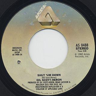 Gil Scott-heron / Shut'um Down