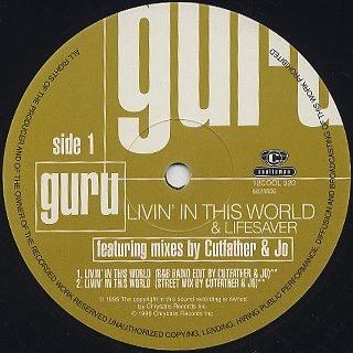 Guru / Livin' In This World label