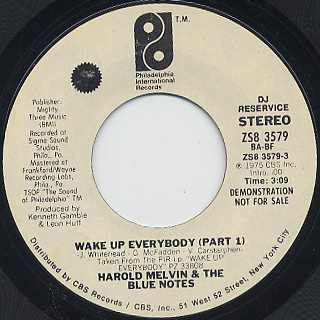 Harold Melvin & The Blue Notes / Wake Up Everybody (7