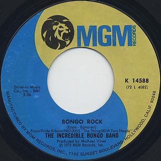 Incredible Bongo Band / Bongo Rock c/w Bongolia